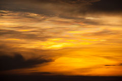 De hemel van de zonsondergang Stock Foto
