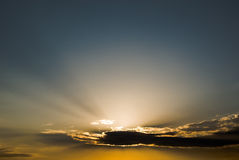De hemel van de zonsondergang Royalty-vrije Stock Afbeeldingen