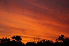 De hemel van de zonsondergang Stock Fotografie