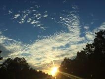 De hemel van de zonsondergang Stock Foto's