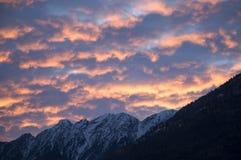 De hemel van de zonsopgang stock foto's