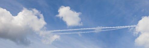De hemel van het panorama stock afbeeldingen