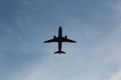 De hemel van het vliegtuig Royalty-vrije Stock Afbeelding