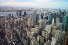 De Hemel van de Stadsmanhattan de V.S. de V.S. van horizonnew york Stock Foto