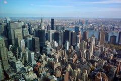 De Hemel van de Stadsmanhattan de V.S. de V.S. van horizonnew york Stock Fotografie