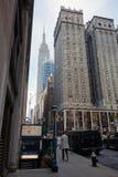 De Hemel van de Stadsmanhattan de V.S. de V.S. van horizonnew york Royalty-vrije Stock Foto's