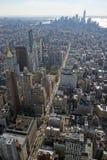 De Hemel van de Stadsmanhattan de V.S. de V.S. van horizonnew york Stock Afbeelding