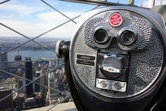 De Hemel van de Stadsmanhattan de V.S. de V.S. van New York van de verrekijkershorizon Stock Fotografie