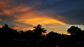 De hemel werd mooi toen zonsondergang Royalty-vrije Stock Afbeeldingen