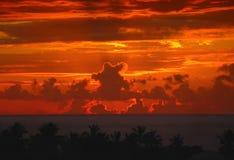 De hemel zegt tot ziens Stock Foto's