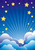 De hemelachtergrond van de avond Stock Foto's