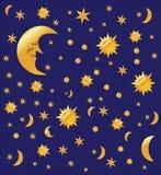 De hemelachtergrond van de nacht,   Royalty-vrije Stock Fotografie