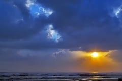 De hemelachtergrond van de wolkenzonsondergang Royalty-vrije Stock Afbeelding