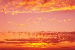 De hemelachtergrond van de zonsondergang Royalty-vrije Stock Afbeelding