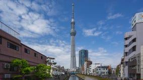De hemelboom van Tokyo met Cleary-de tijdspanne van de hemeltijd in de stad van Tokyo, Japan stock video