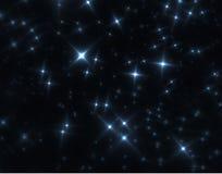 De hemelfractal van de nacht Stock Afbeeldingen