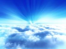 De hemelillustratie van de wolk Stock Afbeeldingen