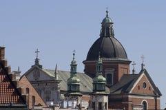 De hemellijn van Krakau Stock Fotografie