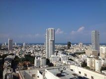 De hemellijn van Tel Aviv Stock Afbeelding