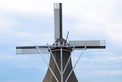 De hemelmening van de windmolen stock afbeeldingen