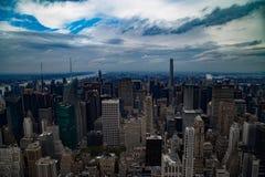 De hemelmening van Manhattan de stad in Royalty-vrije Stock Fotografie