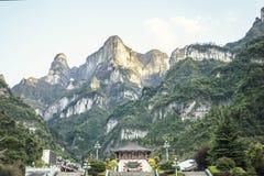 De Hemelpoort Tianmen Shan stock foto's