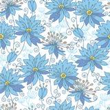 De hemelse achtergrond van het bloemen naadloze patroon Stock Afbeeldingen