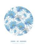 De hemelse achtergrond van het het decorpatroon van de bloemencirkel royalty-vrije illustratie