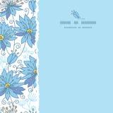 De hemelse bloemen regelen gescheurd naadloos patroon stock illustratie