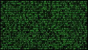De hemliga koderna på skärmen begrepp av cybers?kerhet arkivfilmer