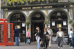 De herberg van Brodie van de Diaken. Edinburgh. stock fotografie