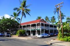 De Herberg van de pionier, Lahaina, Maui Royalty-vrije Stock Foto's