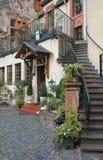 De herberg van het land die in het de wijngebied van Moezel wordt gevestigd van Duitsland Stock Foto