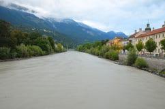 De herbergenrivier van Innsbruck Royalty-vrije Stock Afbeeldingen