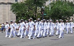 De herdenkings Parade van de Dag in Washington, gelijkstroom. Royalty-vrije Stock Afbeelding
