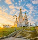 De Herdenkingskerk van Minsk van Alle Heiligen in Dawn royalty-vrije stock afbeeldingen