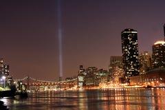 De herdenkingslichten van het World Trade Center Royalty-vrije Stock Foto