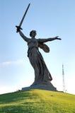 De Herdenkingsobelisk van de Wereldoorlog II op Mamayev Kurgan Royalty-vrije Stock Fotografie