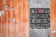 De herdenkingsplaats van München Oktoberfest stock afbeelding