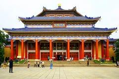 De herdenkingszaal van zon yat sen, guangzhou, China stock fotografie
