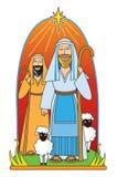 De herders van Kerstmis Royalty-vrije Stock Afbeeldingen