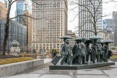 De Heren in AMA Plaza in Chicago royalty-vrije stock afbeeldingen