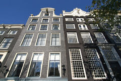 De Herenhuizen van Amsterdam Stock Foto's