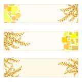 De herfst als thema gehade Banners Stock Afbeeldingen