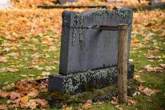 De herfst in de begraafplaats van Filipstad Zweden Stock Fotografie