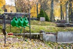 De herfst in de begraafplaats van Filipstad Zweden Royalty-vrije Stock Foto