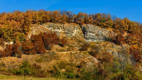 De herfst in de berg stock fotografie