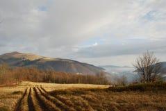 De herfst in bergen Stock Foto's