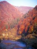 De herfst in bergen. Royalty-vrije Stock Afbeeldingen