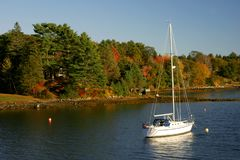 De herfst bij Anker stock foto